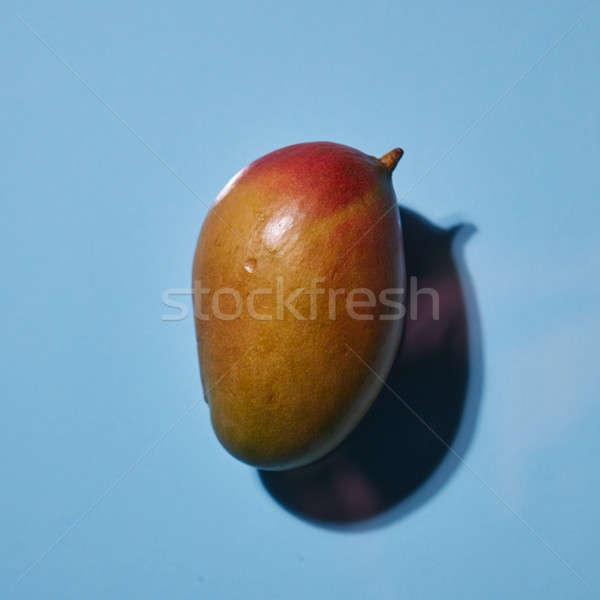 マンゴー フルーツ 孤立した 青 先頭 表示 ストックフォト © artjazz