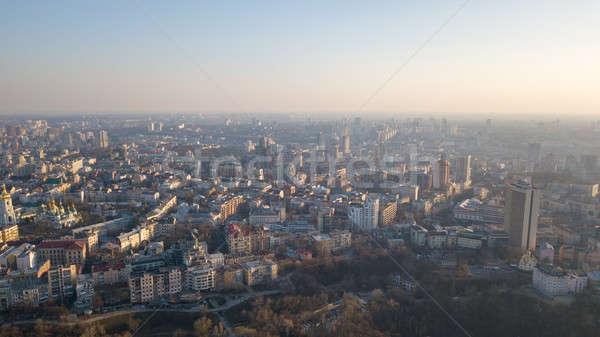 Panoramisch luchtfoto vogels oog centraal Stockfoto © artjazz