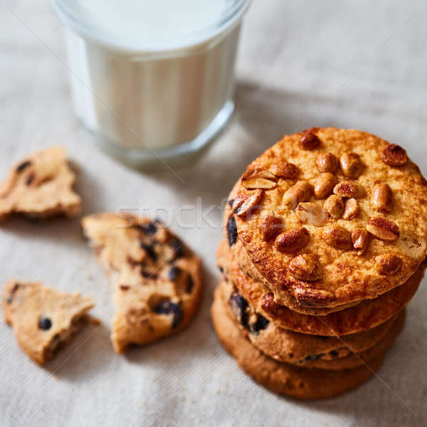 Cookies шоколадом арахис Дед Мороз текстильной Сток-фото © artjazz