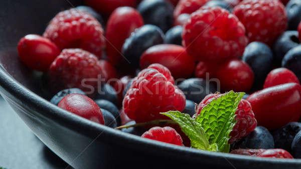 fresh berries on plate Stock photo © artjazz