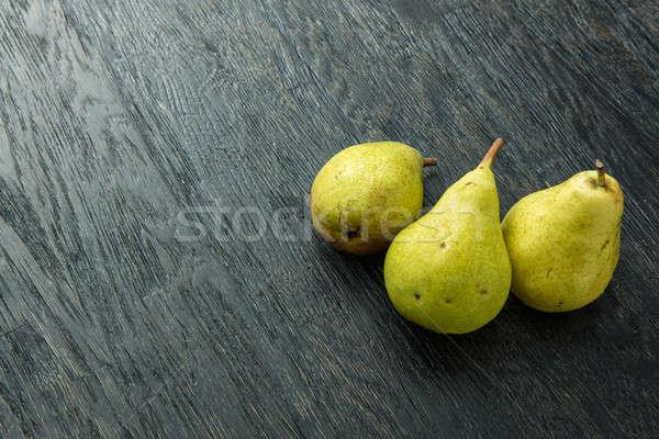 Peras preto alimentação saudável comida natureza Foto stock © artjazz