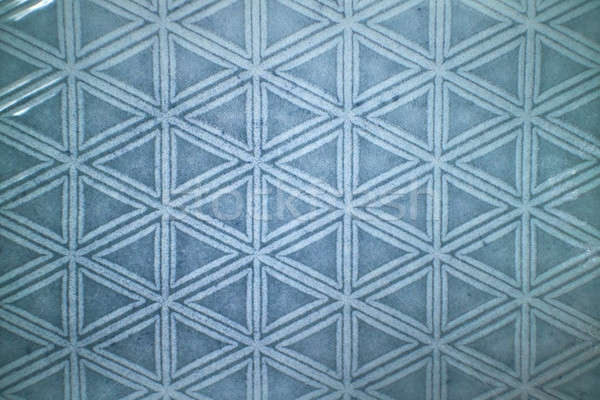 Decorative ceramic blue tile with figured pattern Stock photo © artjazz