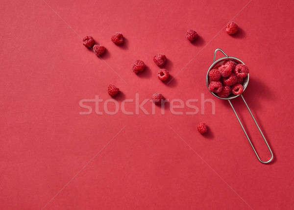 Frutti pattern fresche estate lamponi rosso Foto d'archivio © artjazz