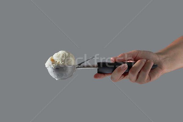 мяча домашний ваниль белый мороженым металл Сток-фото © artjazz