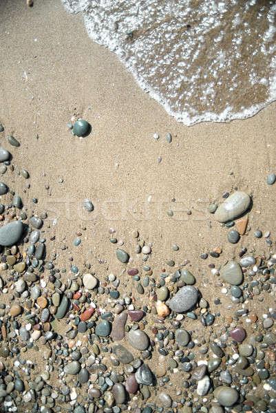 Photo stock: Sable · pierres · eau · vague · plage · résumé