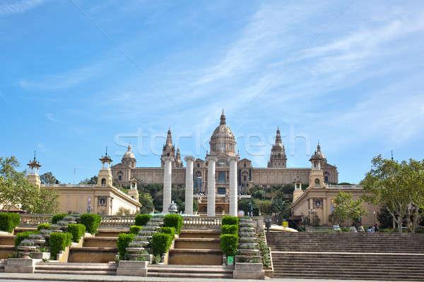 National Museum in Barcelona, Spain Stock photo © artjazz