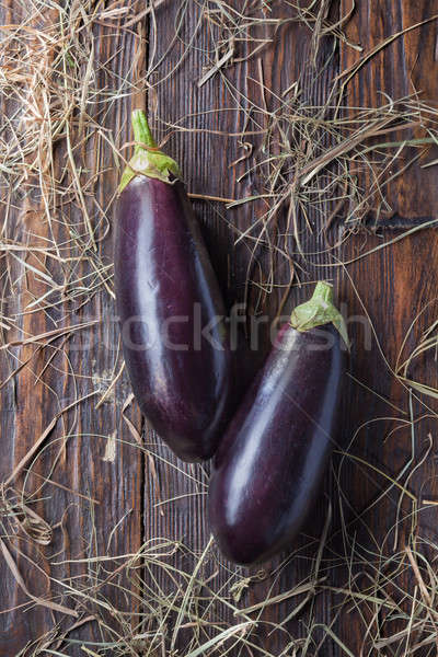 eggplants on wood Stock photo © artjazz