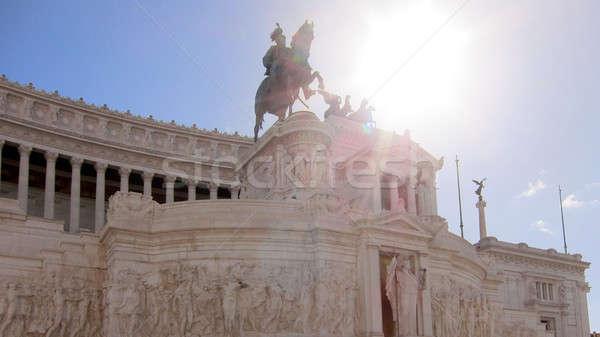 Monument in Rome, Italy Stock photo © artjazz