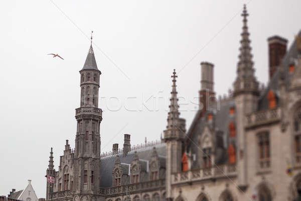 Top мнение ратуша небе здании город Сток-фото © artjazz