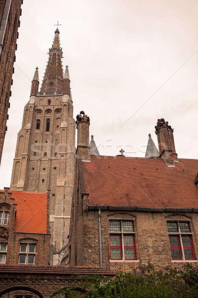 Kompleks średniowiecznej szpitala niebo domu budynku Zdjęcia stock © artjazz