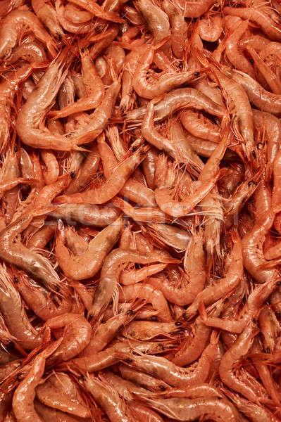 Fresco camarão saudável frutos do mar textura Foto stock © artjazz