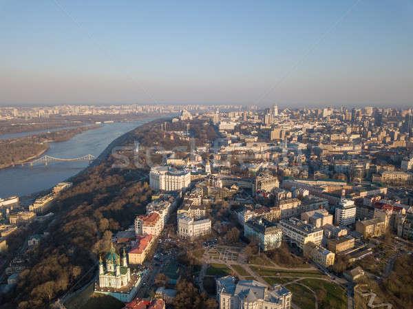 Украина святой Церкви старый город красивой Сток-фото © artjazz