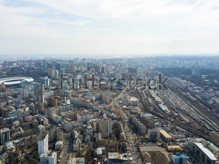 ウクライナ 景観 春 スタジアム 風景 ストックフォト © artjazz
