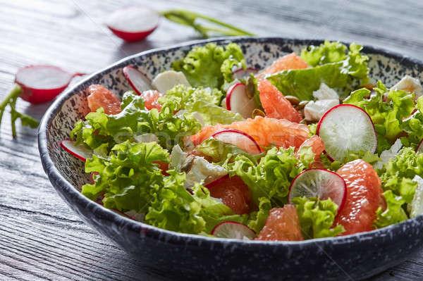 вкусный Салат природного Ингредиенты салата Ломтики Сток-фото © artjazz