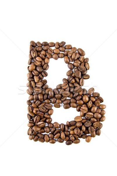 Stockfoto: Koffie · brief · geïsoleerd · witte · frame · achtergronden