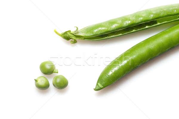 Ervilhas isolado branco comida medicina grupo Foto stock © artjazz