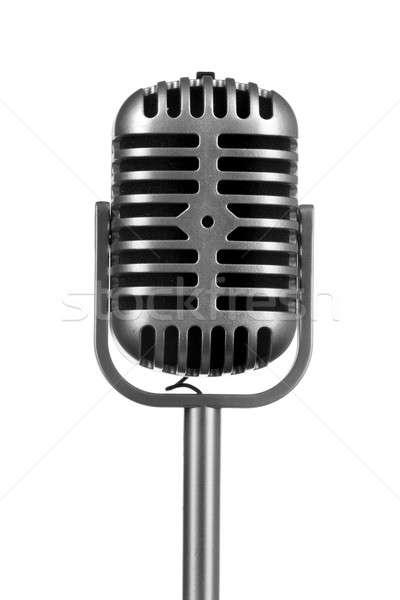 Stock photo: Retro microphone isolated on white