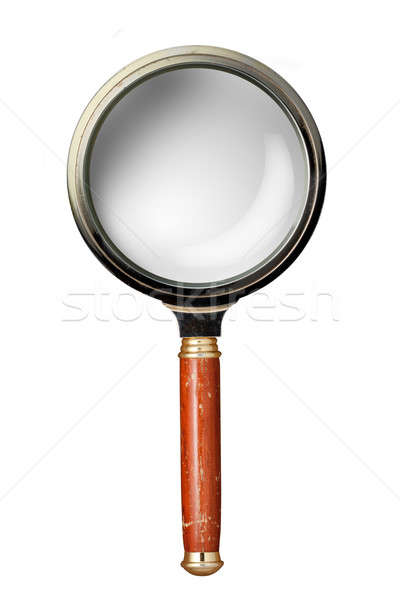 Oldstyle magnifying glass isolated on white Stock photo © artjazz