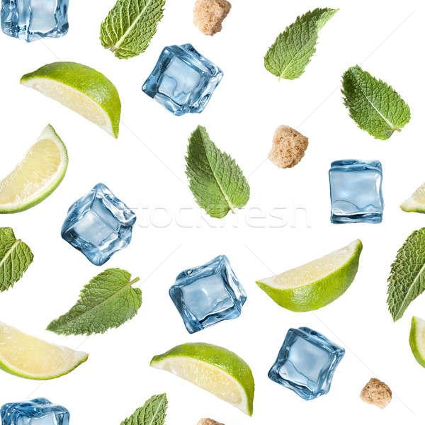 Cal de raio ice cube branco Foto stock © artjazz