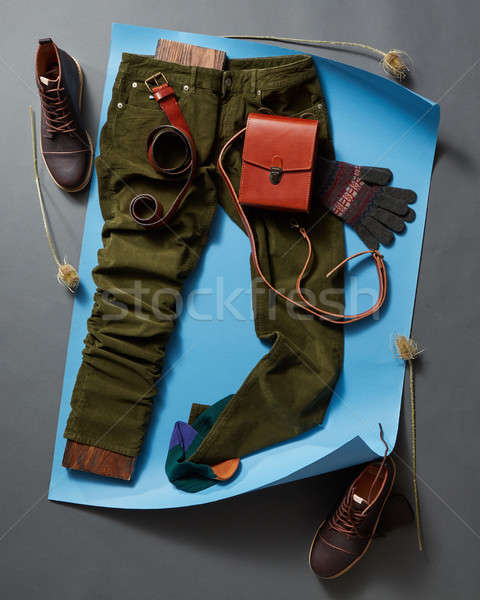 Men's casual outfits with accessories Stock photo © artjazz