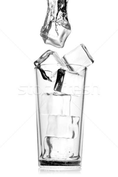 Cam kabarcıklar yalıtılmış beyaz su Stok fotoğraf © artjazz