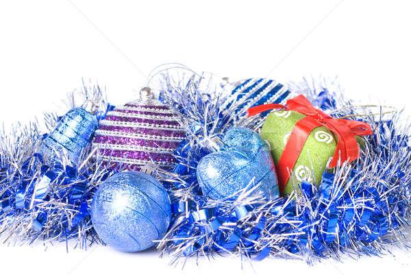 Noel hediye dekorasyon yalıtılmış beyaz Stok fotoğraf © artjazz