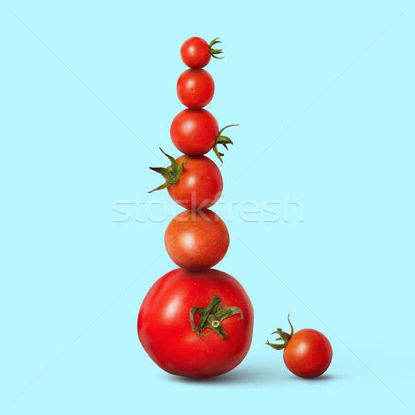 fresh cherry tomatoes Stock photo © artjazz