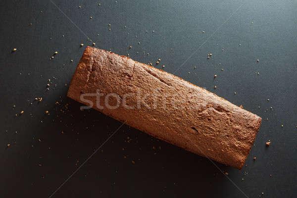 Baguette zwarte vers eigengemaakt brood mais Stockfoto © artjazz