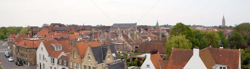 Panorama in the central part of Bruges. Stock photo © artjazz