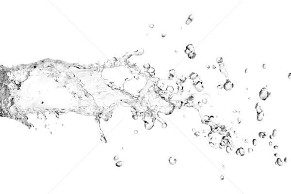 water splash with bubbles isolated on white Stock photo © artjazz