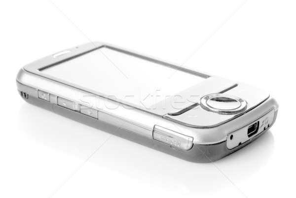 Pda touch screen isolato bianco business telefono Foto d'archivio © artjazz