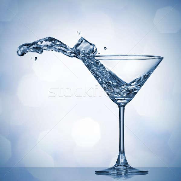 マティーニ スプラッシュ ガラス 食品 氷 バー ストックフォト © artjazz