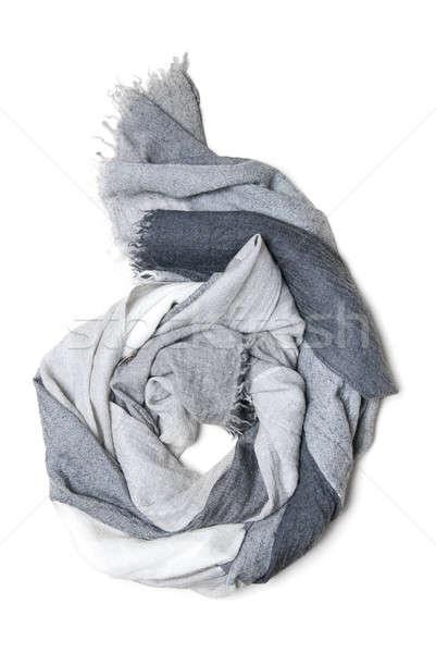 Cachecol isolado branco moda fundo beleza Foto stock © artjazz