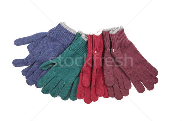 many knitted gloves Stock photo © artjazz