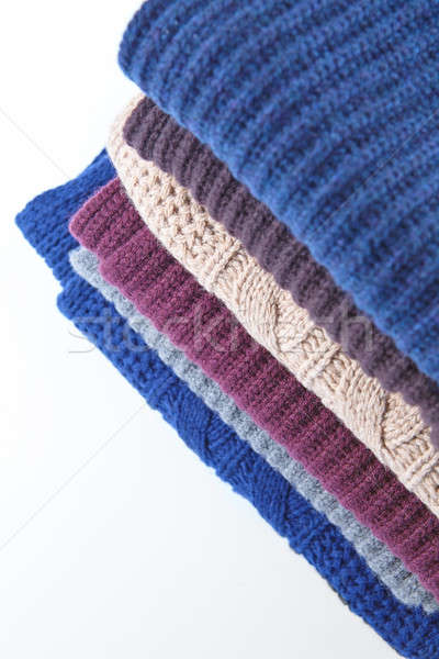 Knitted Color Clothes in stack Stock photo © artjazz
