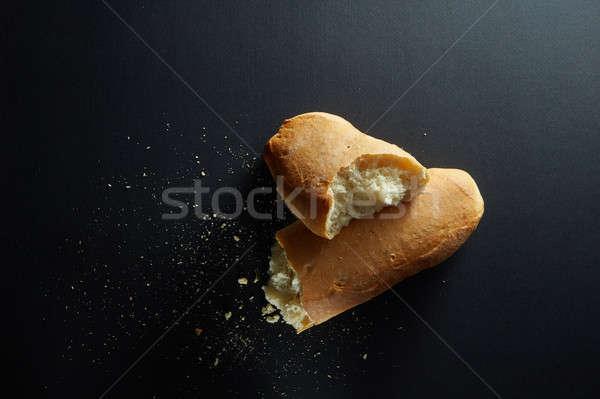 Proaspăt pâine paine spart Imagine de stoc © artjazz