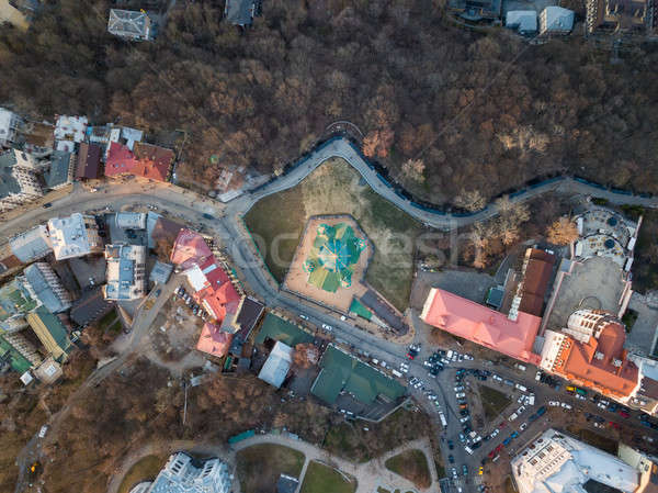 on top of view of St. Andrew's Church or the Cathedral of St. Andrew in sity Kyiv Stock photo © artjazz