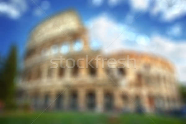 Colosseum in Rome - natural blurred background Stock photo © artjazz
