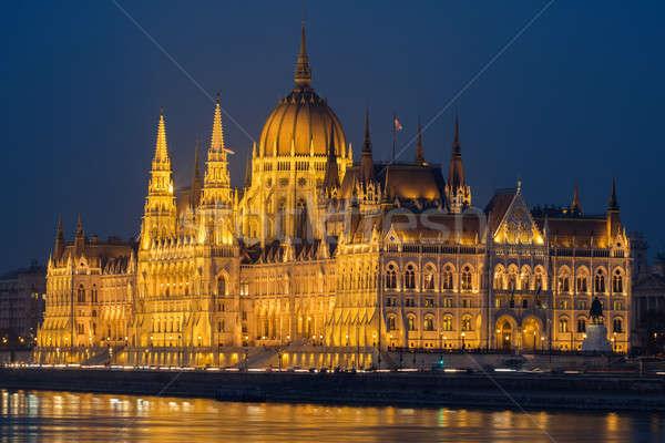家 議会 ブダペスト 1泊 美しい ストックフォト © artjazz
