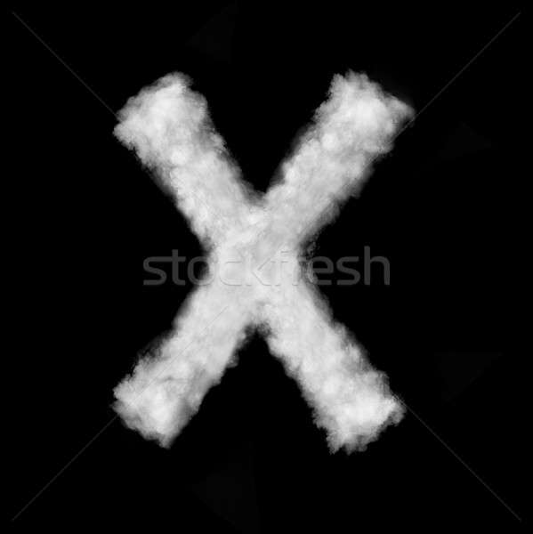 letter X made of the clouds Stock photo © artjazz