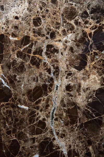 Fekete barna márvány textúra minta absztrakt Stock fotó © artjazz