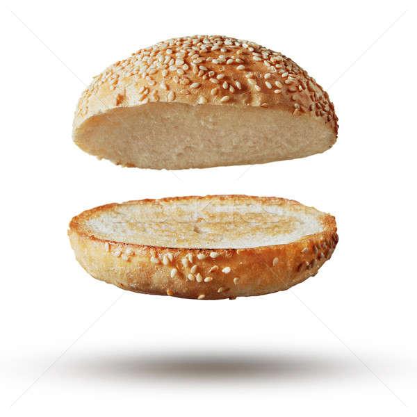 Burger bun empty isolated Stock photo © artjazz