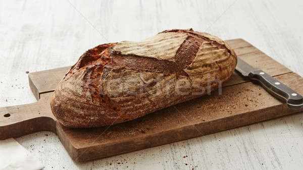 Vers rogge brood mes ovaal Stockfoto © artjazz