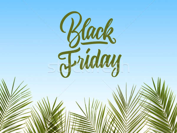caligraphic text black Friday on a blue background Stock photo © artjazz