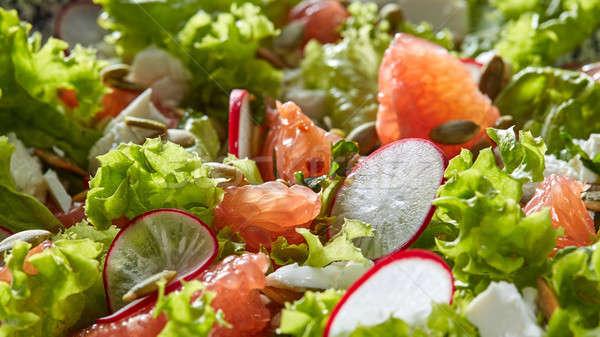 Stok fotoğraf: Taze · vejetaryen · salata · marul · dilimleri