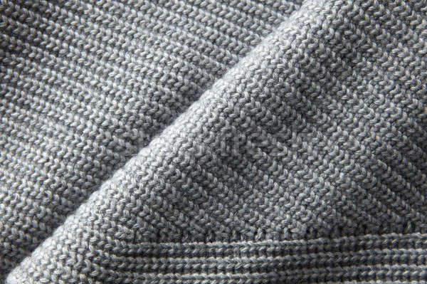 gray knitted jumper material texture Stock photo © artjazz