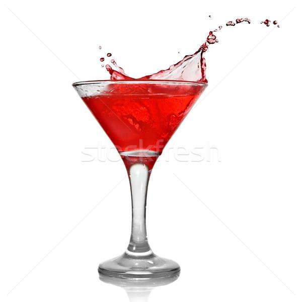 Сток-фото: красный · коктейль · всплеск · изолированный · белый · продовольствие
