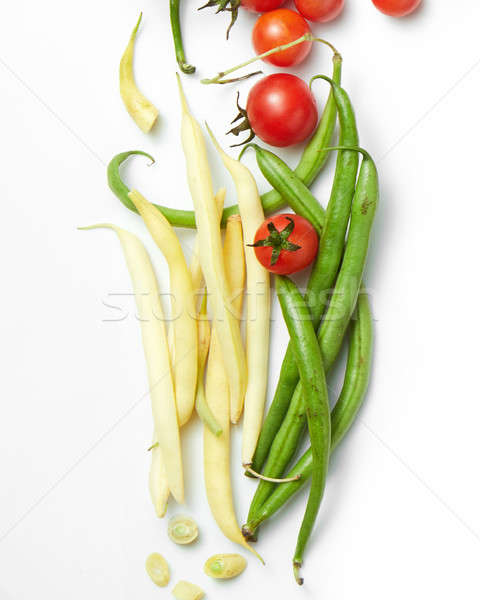 green beans with cherry tomatoes Stock photo © artjazz