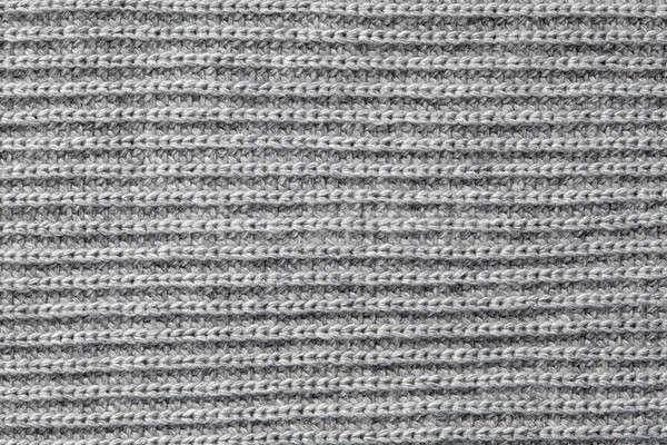 Grijs wol textuur gebreid elastisch Stockfoto © artjazz