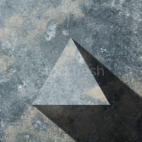 Гранит темно треугольник тень изолированный каменные Сток-фото © artjazz